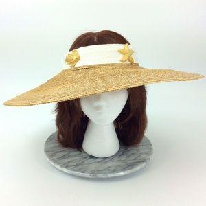 Vintage Deborah Rhodes Wide Brim Crownless Sun Hat